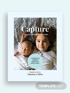 Kid's Photo Book Cover Template