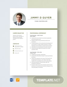 Fund Controller Resume Template