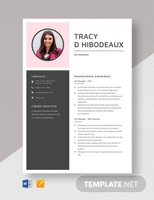 GIS Manager Resume Template