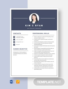 GIS Project Manager Resume Template