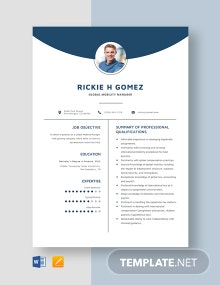 Global Mobility Manager Resume Template