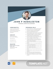 Forensic Computer Examiner Resume Template