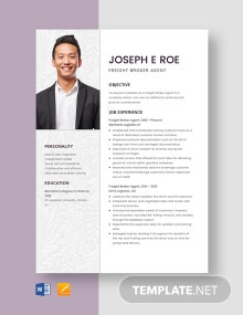 Freight Broker Agent Resume Template