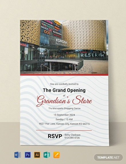 Free Store Opening Invitation Template Word Psd