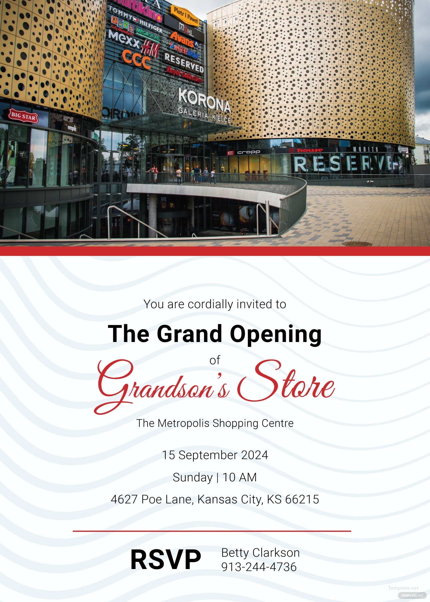 Store Opening Invitation Template in Adobe Illustrator Photoshop