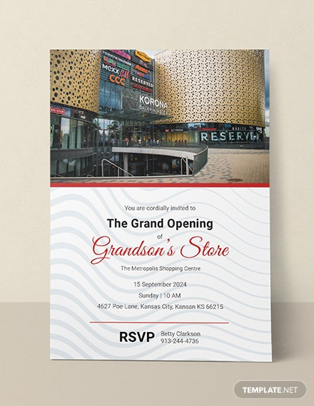 Free Store Opening Invitation Template