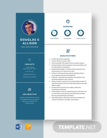 Front-End Supervisor Resume Template
