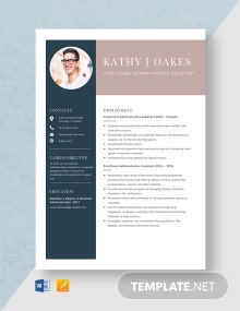 Functional Administrative Assistant Resume Template