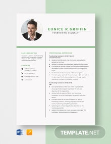 Fundraising Assistant Resume Template