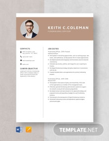 Fundraising Officer Resume Template