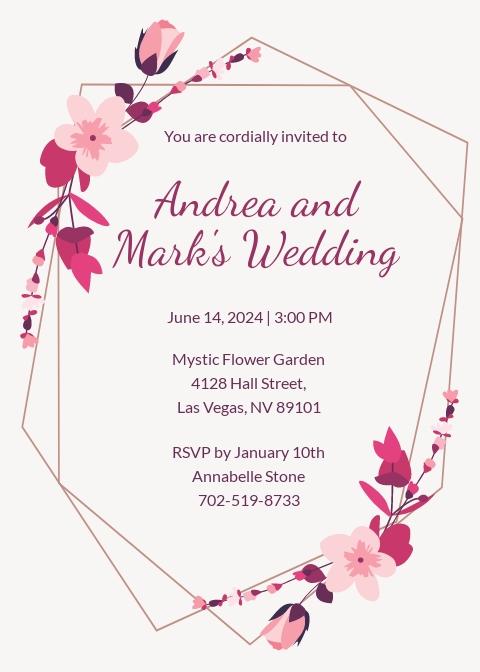 Free Sample Wedding Invitation Template