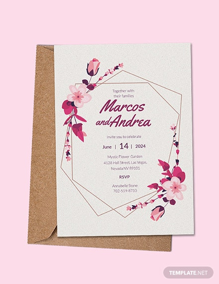 Free Sample Wedding Invitation Template