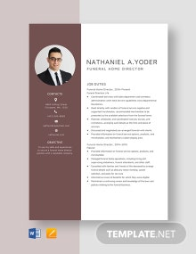 Funeral Home Director Resume Template