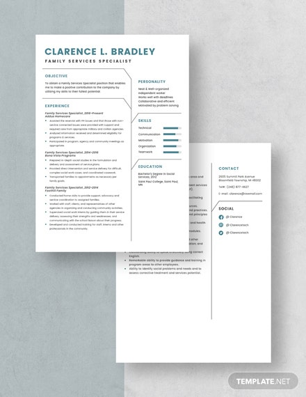 Family Services Specialist Resume Download