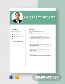 Fashion Sales Assistant Resume Template