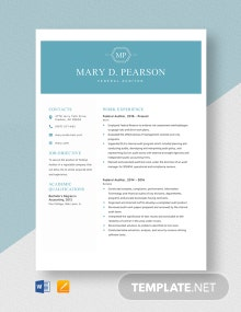 Federal Auditor Resume Template