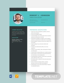 Federal Police Officer Resume Template