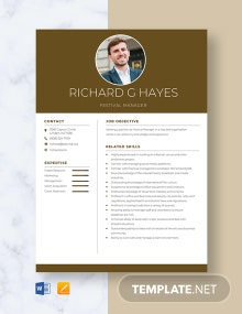 Festival Manager Resume Template