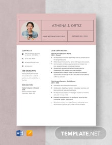 Field Account Executive Resume Template