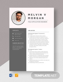 Field Application Engineer Resume Template