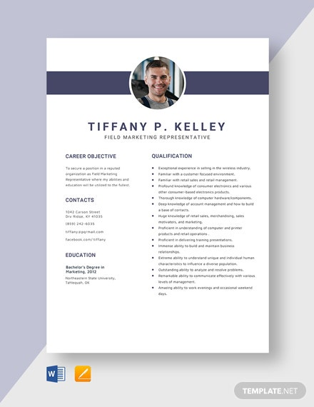 Field Marketing Representative Resume Template