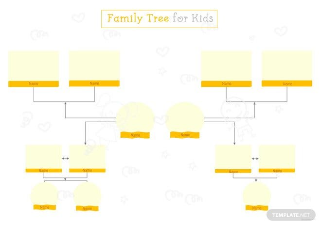 Family tree template for kids in microsoft word apple for Family tree template for mac