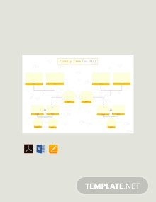 Free Family Tree Template for Kid's