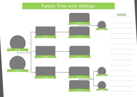 Basic Family Tree Template Free Templates