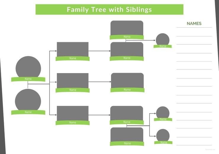 34 family tree templates pdf doc excel psd free premium templates. Black Bedroom Furniture Sets. Home Design Ideas
