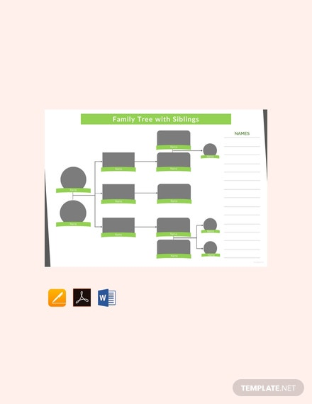 Free Family Tree Template With Siblings