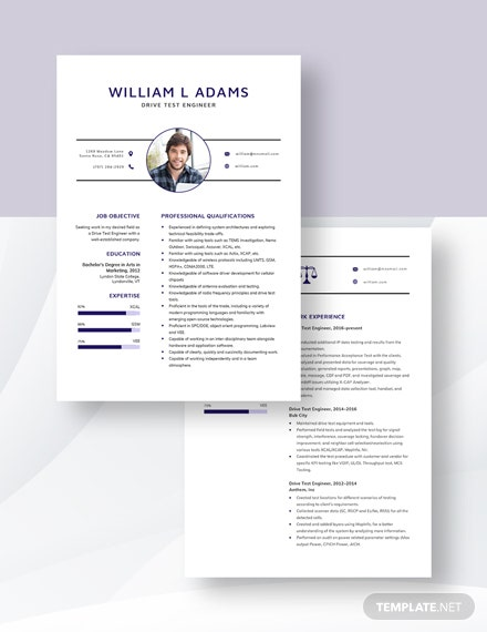 Drive Test Engineer Resume Download