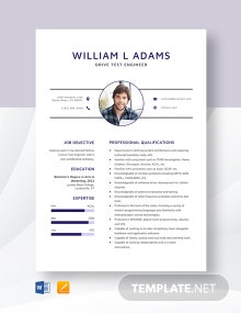 Drive Test Engineer Resume Template
