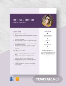 Driver Recruiter Resume Template