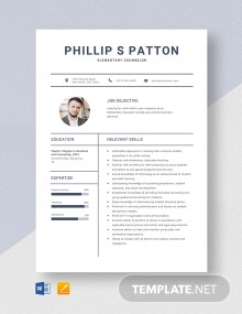 Elementary Counselor Resume Template