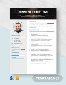 Elementary School Secretary Resume Template