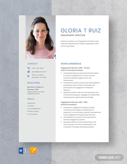 Engagement Director Resume