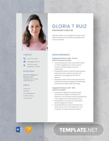 Engagement Director Resume Template