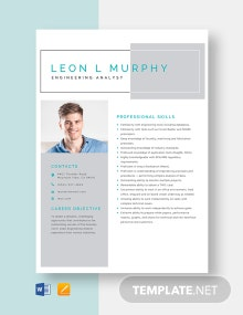 Engineering Analyst Resume Template
