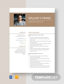 Engineering Consultant Resume Template
