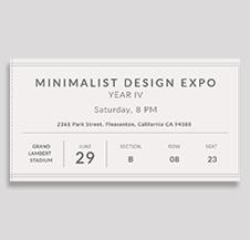 Minimalist Ticket Template