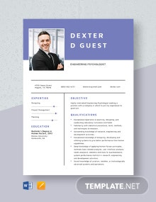 Engineering Psychologist Resume Template