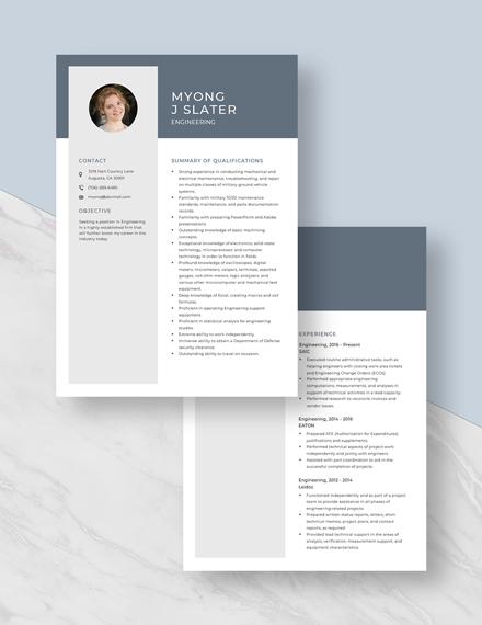 Engineering Resume Download