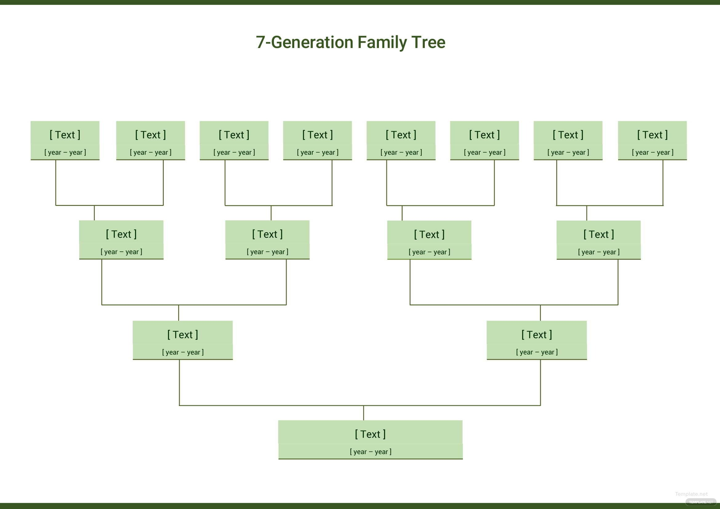 7 generation family tree template microsoft