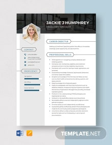 Enrollment Specialist Resume Template