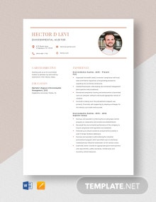 Environmental Auditor Resume Template