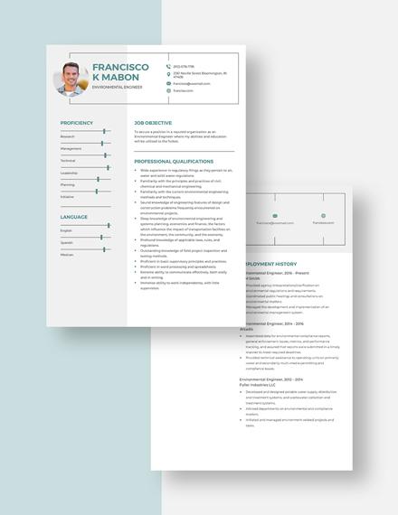 Environmental Engineer Resume Download