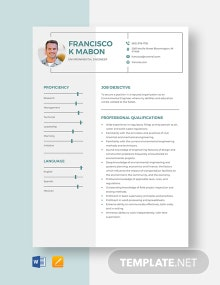 Environmental Engineer Resume Template