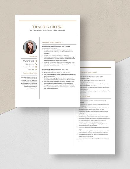 Environmental Health Practitioner Resume Download