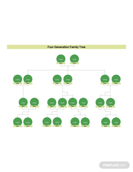 Four Generation Family Tree Template: Download 38+ Family Trees in ...