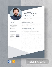 ERP Tester Resume Template